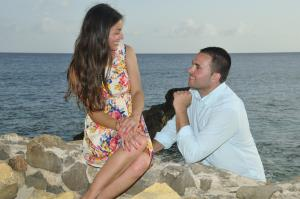 Cupecoy Engagement - Jean Vallette Photography